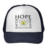 Hope Believe Faith - Sarcoma Cancer Mesh Hats