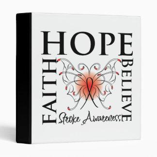 Hope Believe Faith - Stroke Disease 3 Ring Binders