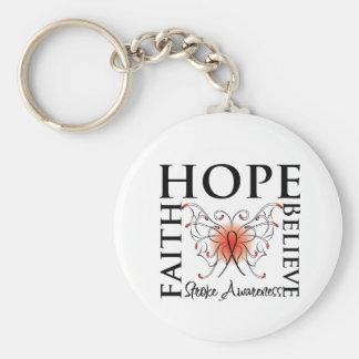 Hope Believe Faith - Stroke Disease Keychains