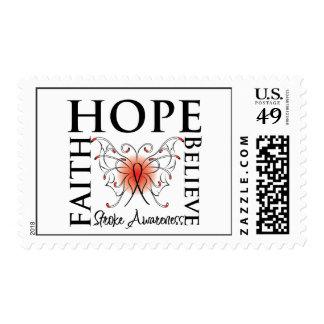 Hope Believe Faith - Stroke Disease Postage