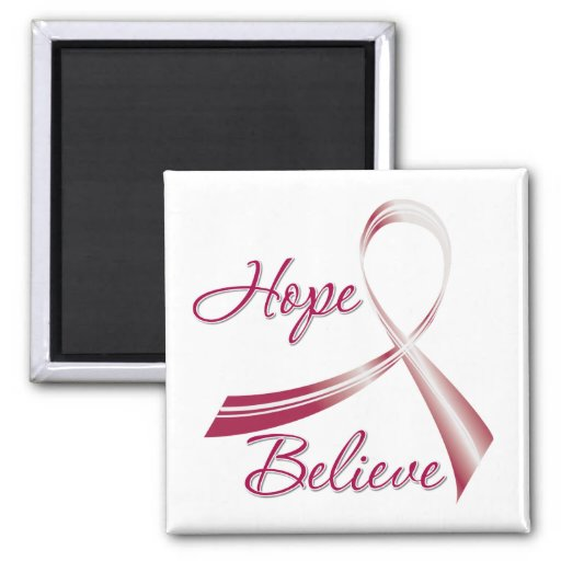 Hope Believe Head and Neck Cancer Magnets