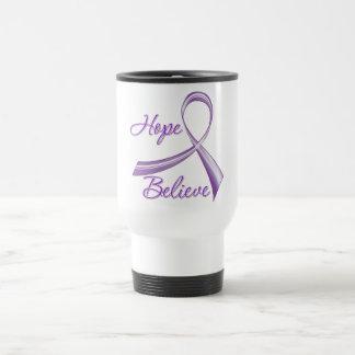 Hope Believe Pancreatic Cancer 15 Oz Stainless Steel Travel Mug