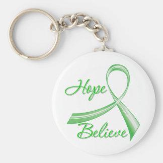Hope Believe Traumatic Brain Injury Basic Round Button Keychain