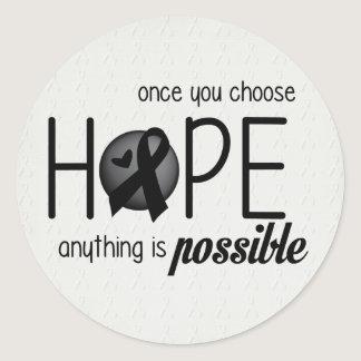 Hope (Black) Classic Round Sticker
