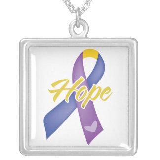 HOPE Bladder Cancer Ribbon Custom Necklace