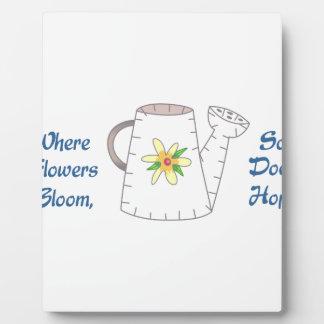Hope Blooms Applique Plaque