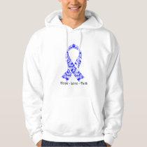 Hope Blue Awareness Ribbon Hoodie