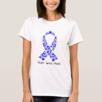 Hope Blue Awareness Ribbon T-Shirt
