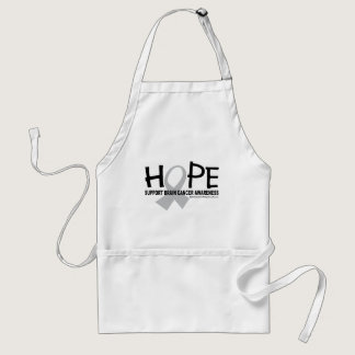 Hope Brain Cancer Adult Apron
