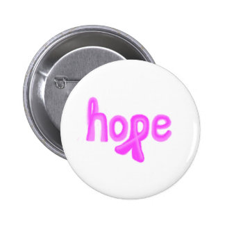 hope breast cance awareness pinback button