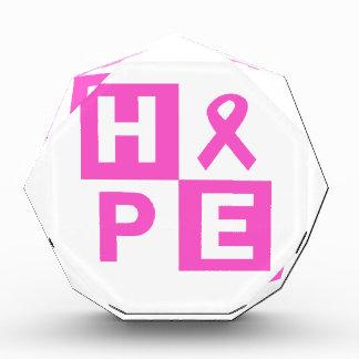 Hope Breast Cancer Awareness Acrylic Award