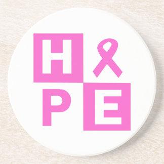 Hope Breast Cancer Awareness Beverage Coasters