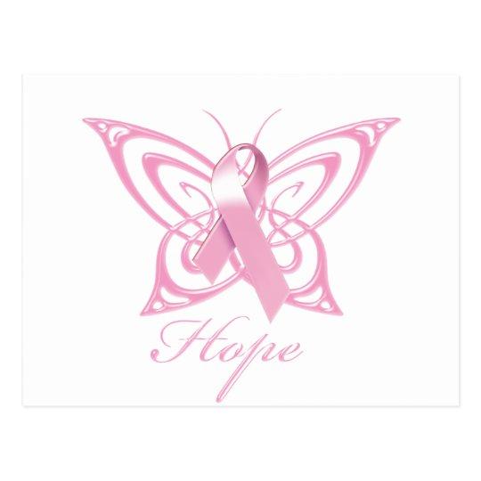 Hope Breast Cancer Awareness Butterfly Postcard