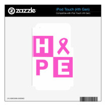 Hope Breast Cancer Awareness Decal For iPod Touch 4G