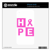 Hope Breast Cancer Awareness iPhone 4S Decal