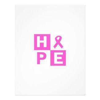 Hope Breast Cancer Awareness Letterhead