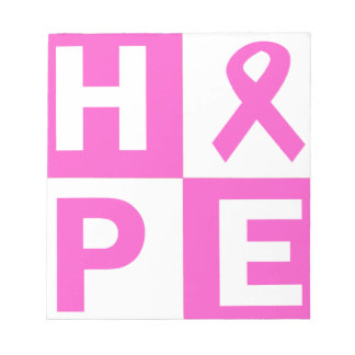 Hope Breast Cancer Awareness Notepad