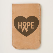Hope Breast Cancer awareness pink ribbon on heart iPhone 6/6S Case