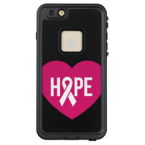 Hope Breast Cancer awareness pink ribbon on heart LifeProof® FRĒ® iPhone 6/6s Plus Case
