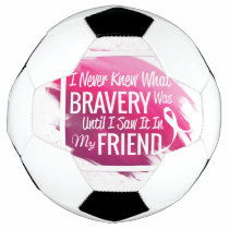 Hope Breast Cancer awareness pink ribbon on heart Soccer Ball