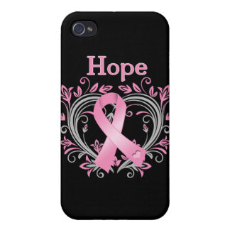 Hope Breast Cancer Awareness Ribbon Cases For iPhone 4