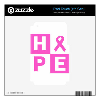 Hope Breast Cancer Awareness Skin For iPod Touch 4G
