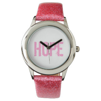 """""""Hope"""" Breast Cancer Awareness Watch"""