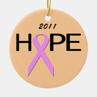 Hope Breast Cancer Fighter Ornament
