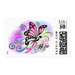 Hope, Breast Cancer Pink Ribbon Butterfly Stamps at Zazzle