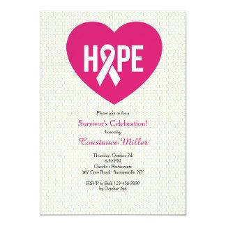Hope Breast Cancer Ribbon Invitation