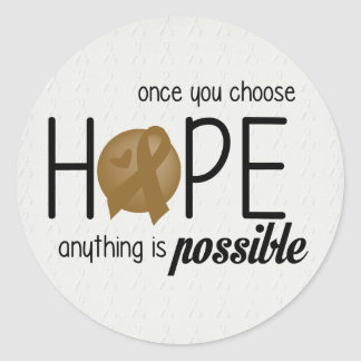 Hope (Brown) Classic Round Sticker