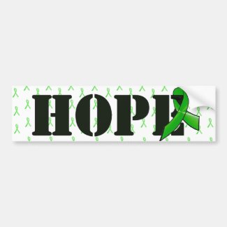 Hope Bumper Sticker with Lyme Disease Ribbon