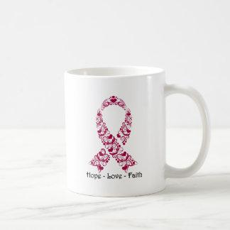 Hope Burgundy Awareness Ribbon Coffee Mug