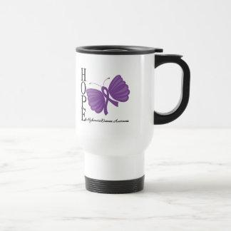 Hope Butterfly Alzheimer's Disease 15 Oz Stainless Steel Travel Mug