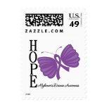 Hope Butterfly Alzheimer's Disease Postage Stamp