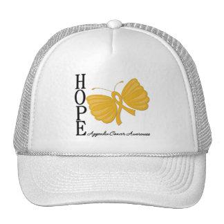 Hope Butterfly Appendix Cancer Trucker Hat