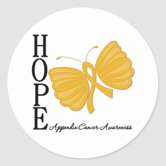 Hope Butterfly Appendix Cancer Sticker