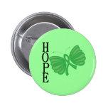 Hope Butterfly Bone Marrow & Stem Cell Transplant Pinback Buttons