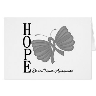 Hope Butterfly Brain Tumor Card