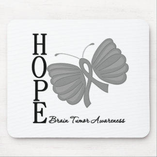 Hope Butterfly Brain Tumor Mouse Pad