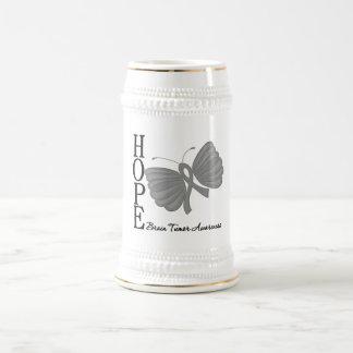 Hope Butterfly Brain Tumor 18 Oz Beer Stein