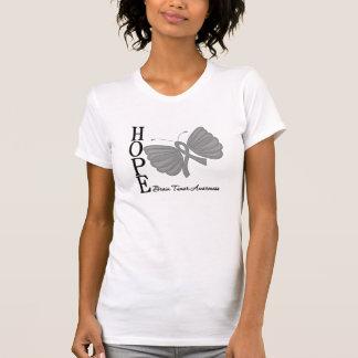Hope Butterfly Brain Tumor Tee Shirts