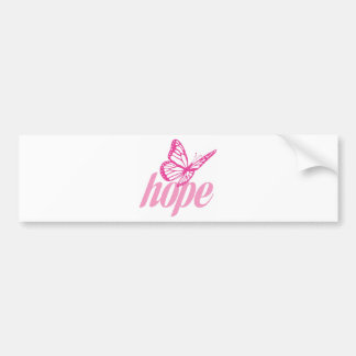 Hope Butterfly Bumper Sticker