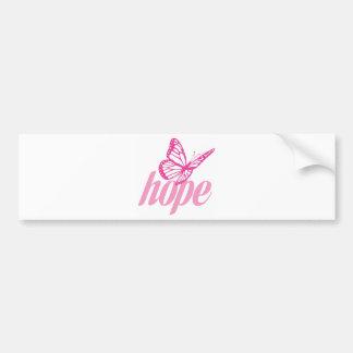 Hope Butterfly Car Bumper Sticker