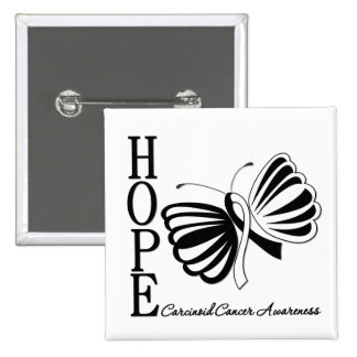 Hope Butterfly Carcinoid Cancer Pinback Buttons