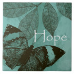 Hope Butterfly Ceramic Tile
