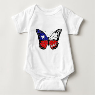 Hope Butterfly Chile Flag Baby Bodysuit