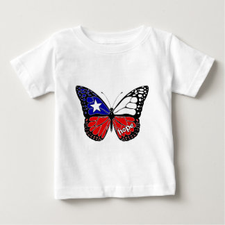 Hope Butterfly Chile Flag Baby T-Shirt