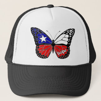 Hope Butterfly Chile Flag Trucker Hat