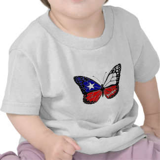 Hope Butterfly Chile Flag Tshirts
